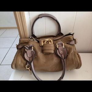 Authentic Chloe Beige Paddington Shoulder Bag