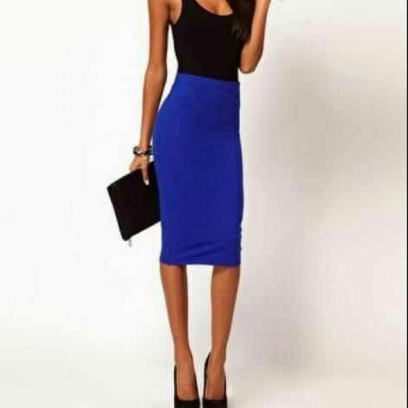 ASOS - 🚫SOLD🚫 ASOS Bodycon Royal Blue Midi Skirt from Rebecca's ...