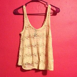 Tops - Tan Lace Top