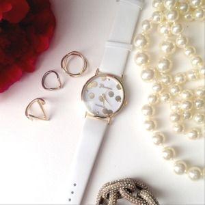 White & Gold Watch