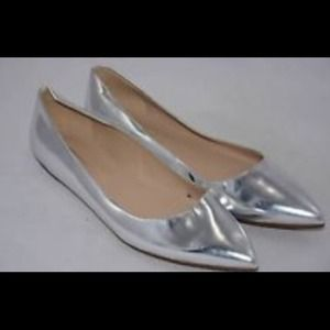 J. Crew Shoes - ⚡FINAL SALE⚡️J. Crew Silver Viv Flat. Worn once