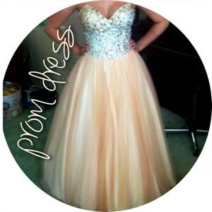 Peach Ballgown Prom Dress