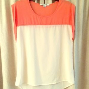Color block silky top