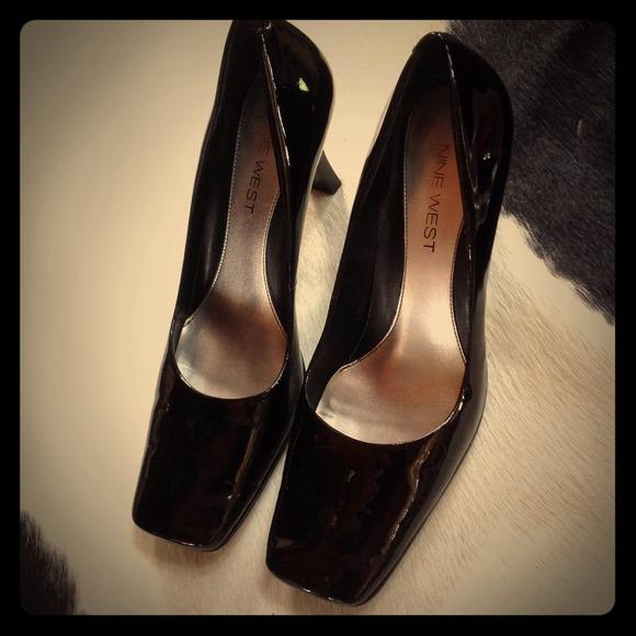 cb381b762b Nine West Shoes | Square Toe Patent Leather Pumps Sz 8 | Poshmark