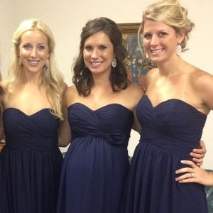 Navy Bridesmaid Dresses Bill Levkoff