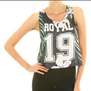 Royal Crop Top