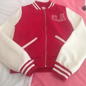 California varsity jacket. Red.