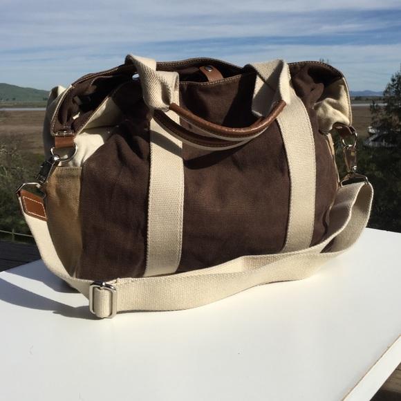 27% off GAP Handbags - Large Brown Gap Canvas Tote Bag & Shoulder ...