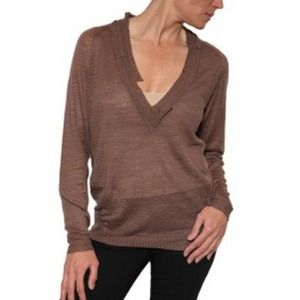 Oonagh Nanette Lepore Stanley VNeck Putty Sweater