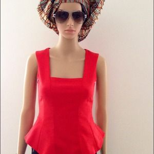 Tops - Bright red Zara top XS