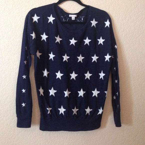 84% off GAP Sweaters - Navy Blue with white star sweater Gap from ...