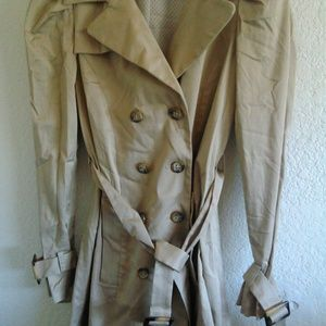 Allen B khaki trench coat