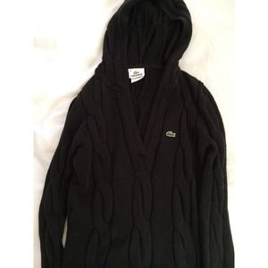 LaCoste black sweater with hood