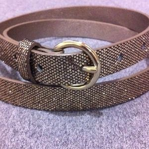 Banana Republic Accessories - Banana Republic Sparkly Gold Belt