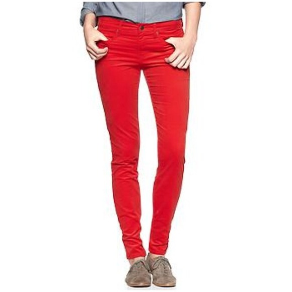 75% off GAP Pants - Gap Red Corduroy Pants from ! taryn's closet ...