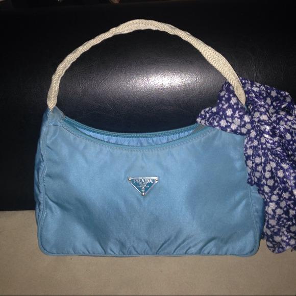 71d7f445b1d46d Prada Bags | Authentic Blue Nylon Purse | Poshmark