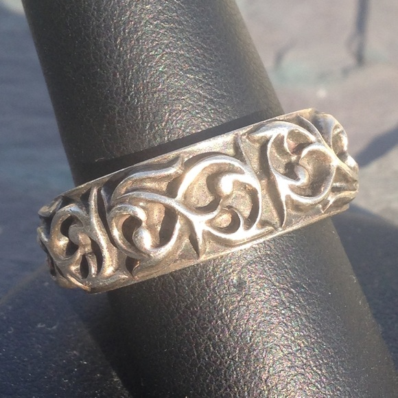 Chrome hearts jewelry sterling silver band ring scroll ivy poshmark m55529e2d713fde029100281f aloadofball Gallery