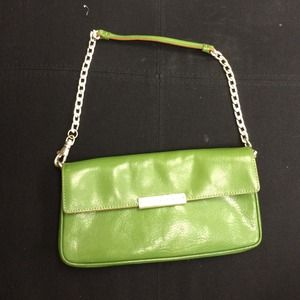 Authentic Michael Kors green clutch purse