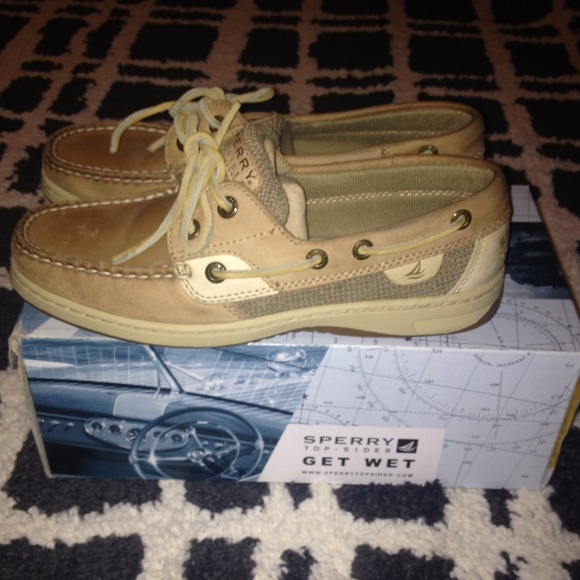 Sperry Shoes - Speedy bluefish 2-eye boat shoes color linen oat 53f4909eaa9