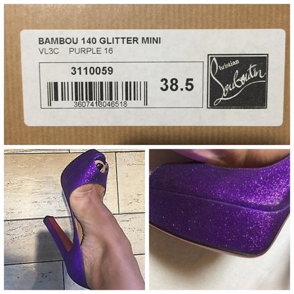 0b7320f8096 Christian Louboutin Shoes - Bamboo Christian Louboutins purple sparkle