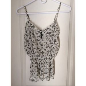 Floral chiffon tank with spaghetti straps!