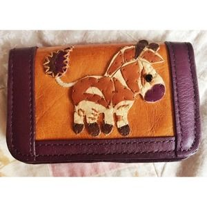 Ipa Nima Leather Donkey Mini Wallet