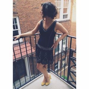 Flapper Style Little Black Dress