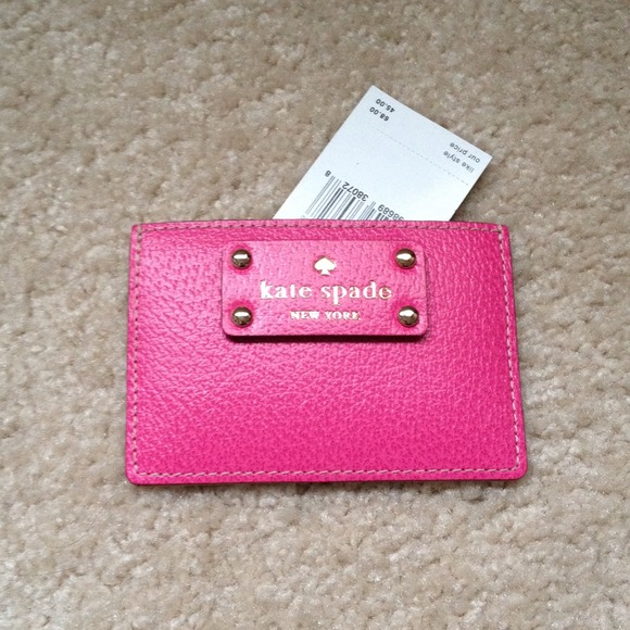 outlet store 7f307 7675d Pink Kate Spade card holder NWT