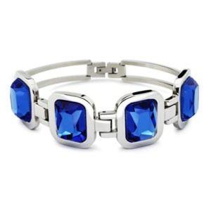 Jewelry - Wow! Blue Sapphire sim. Diamonds SS Bracelet!