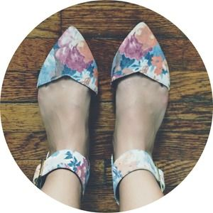 Floral Pointed Toe Flats