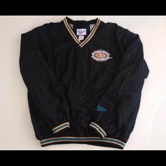 71b141911bdfd Reebok Jackets   Coats   Vintage Super Bowl 30 Pullover Jacket ...