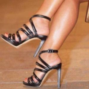 ZARA Strappy Heels w/ Ankle Strap