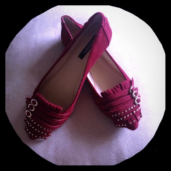Shoemint Shoes | Wine Colored Suede Flats