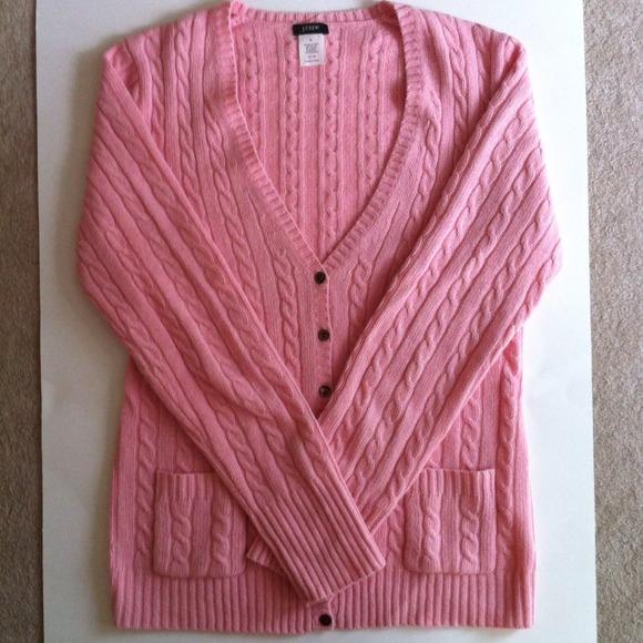 81% off J. Crew Sweaters - 🍥J. Crew Women's Pink Cardigan Wool ...