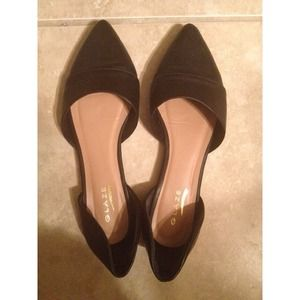 Shoes - Slip on pointy d'orsay flats. Worn once.