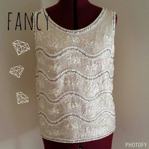 HOST PICK 9/3 Vintage sequin and beaded top