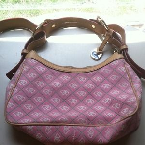 Pink and Green Dooney & Bourke Handbag