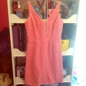Ann Taylor Pink Lace dress