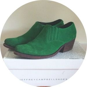 Jeffrey Campbell Shoes - 🎉HP 9/16!🎉JC Green Suede Arizona Bootie