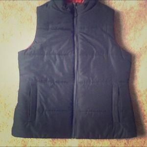 reversible red/blue vest
