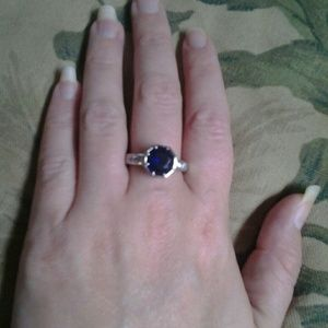 Prize Candle Blue & Silver Ring, Size 8