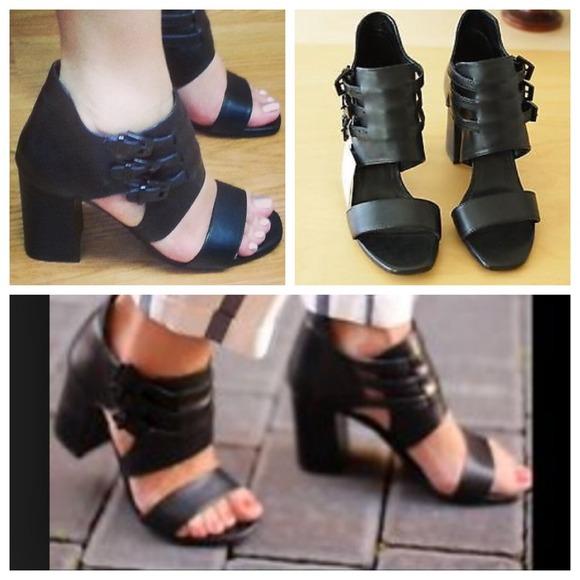 33ce9c63da Zara Leather Block Heel Ankle Boot Style Sandal