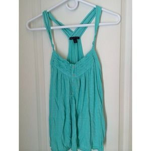 American Eagle, turquoise tank