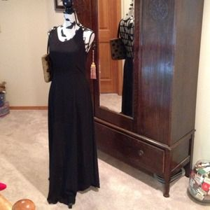 Amazing Lattice Back Dress in Black Polyester