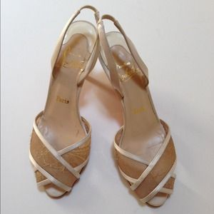 CHIC - Authentic Christian Louboutin Satin Sandals