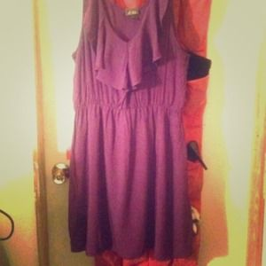 Purple Ruffled Dress!