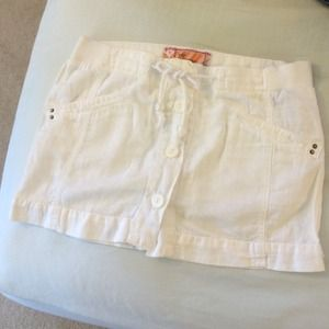 Zara TRF white mini open front skirt sz2