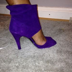 Purple Suede Ankle Booty