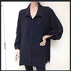 Tops - 🆑50% OFF🔴NEW black button down topGreat quality