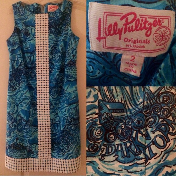 Lilly Pulitzer Dresses Dark N Stormy Worth Shift Dress